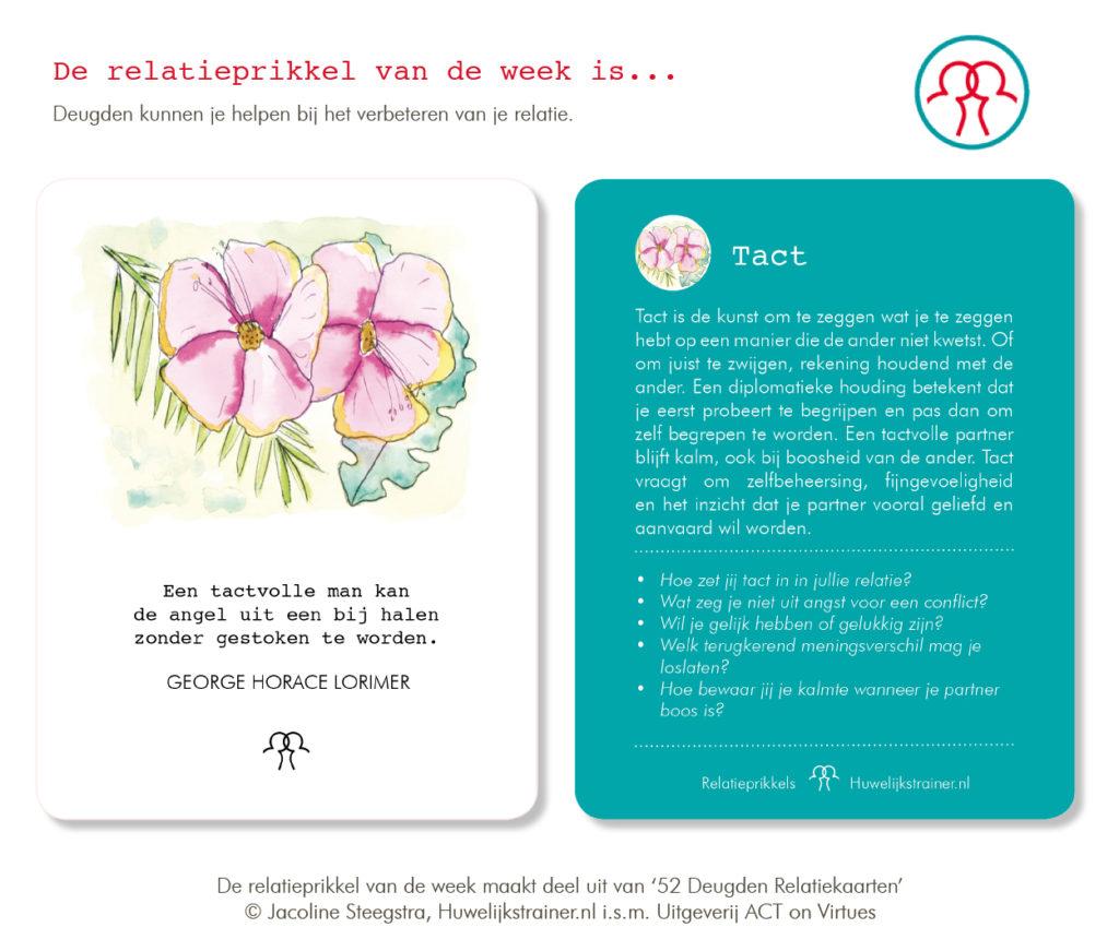 Relatieprikkel van de week: tact