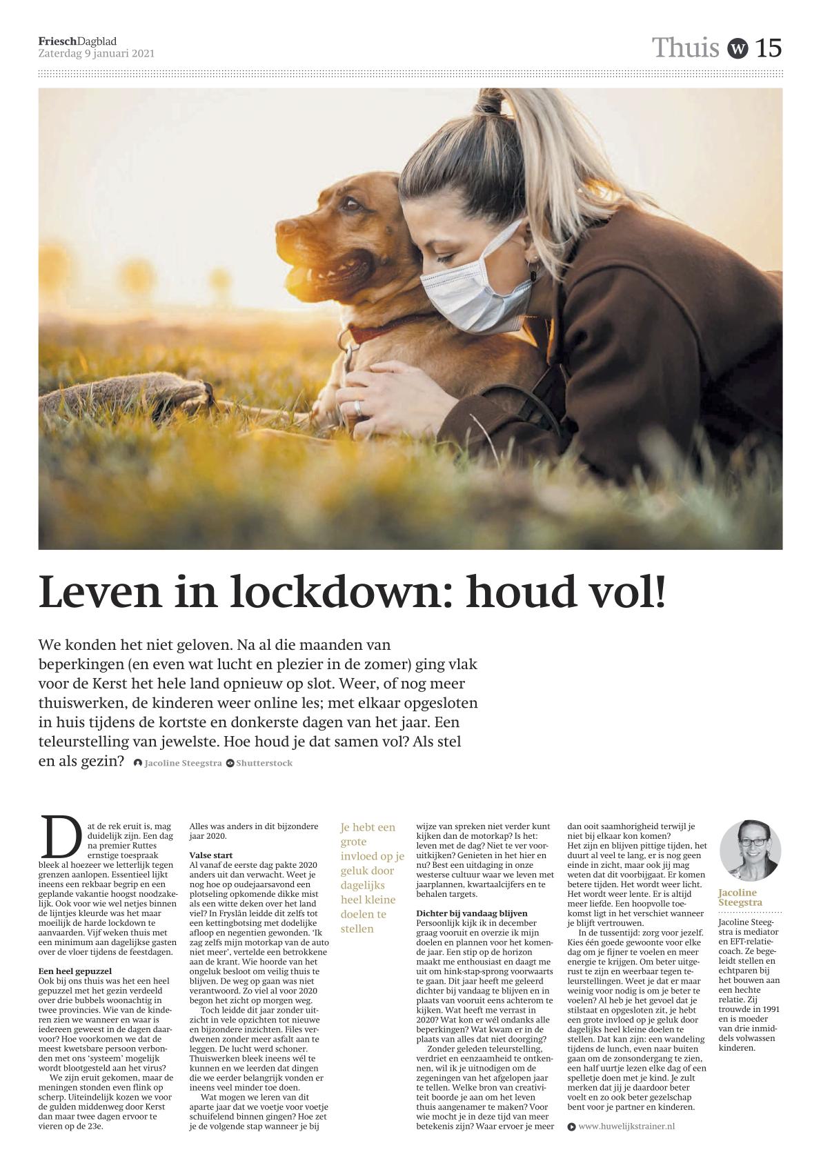 Leven in lockdown: houd vol