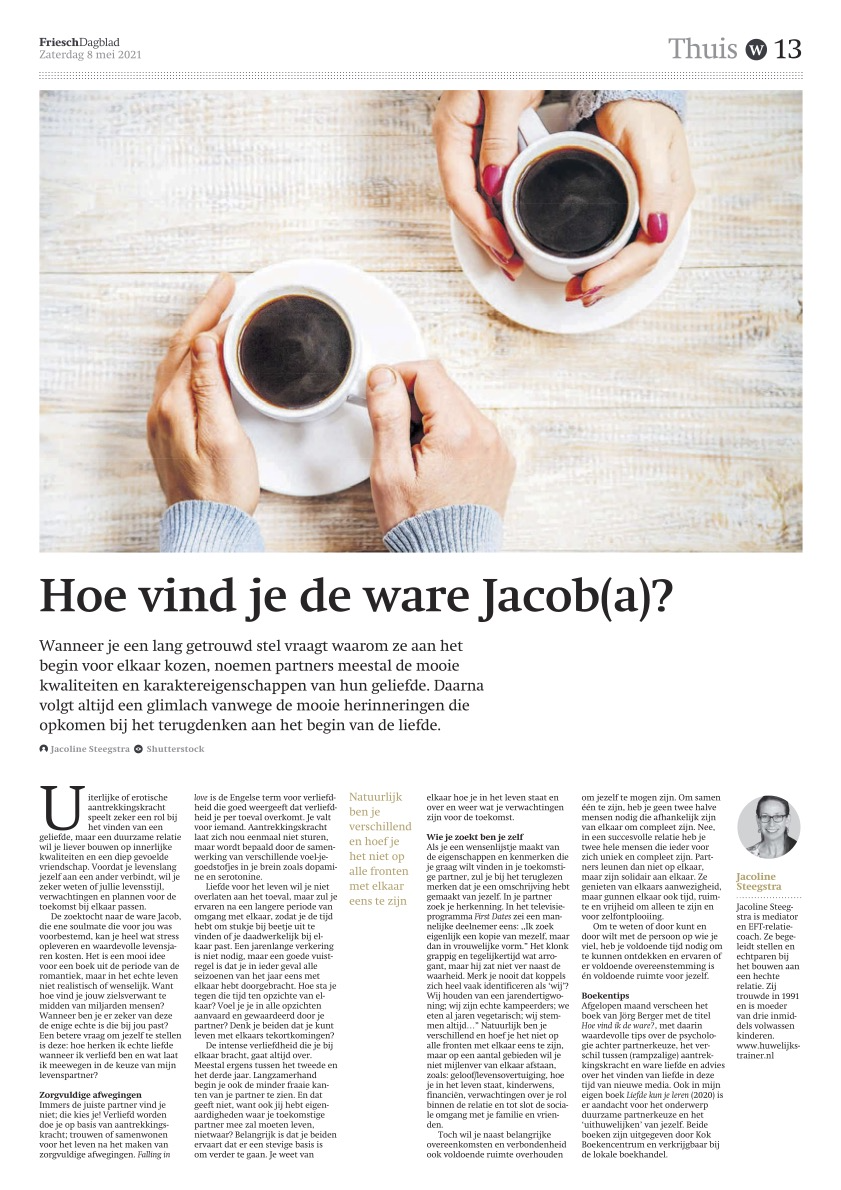een gelukkige relatie: de ware Jacob(a)